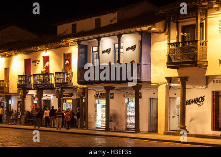 Plaza de Armas Historical Buildings Cusco, Peru - Stock Image