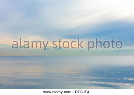 Lake Ontario one of the Great Lakes in early morning at Lynde Shores Conservation Area in Whitby Ontario Canada - Stock Image