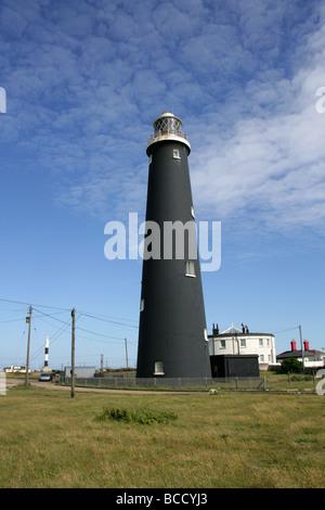 The Old Lighthouse, Dungeness, Kent, UK - Stock Image