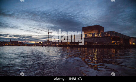 Copenhagen the capital and most populous city of Denmark. A popular place for tourists and travelers. - Stock Image