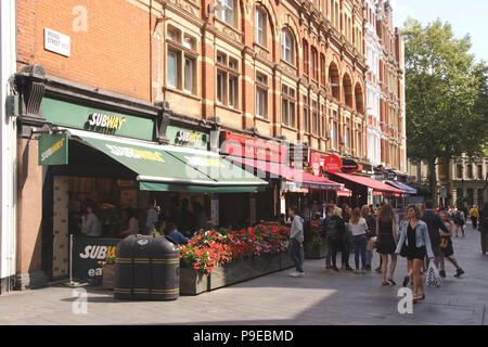 Irving Street off Leicester Square London September 2017 - Stock Image
