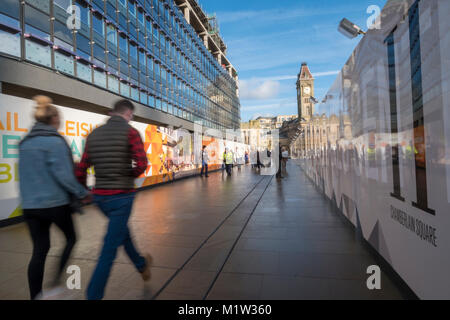 Construction of One Chamberlain square, on former central library site Birmingham UK - Stock Image