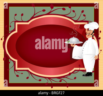 Chef with label - Stock Image