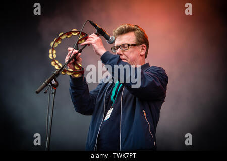 Oslo, Norway. 20th June, 2019. Oslo, Norway - June 20th, 2019. The Scottish folk rock duo The Proclaimers performs a live concert during the Norwegian music festival OverOslo 2019 in Oslo. The duo consists of the twin brothers Charlie and Craig Reid. (Photo Credit: Gonzales Photo/Alamy Live News - Stock Image