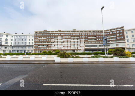 Robertson Terrace apartments,Hastings, East Sussex, England , UK - Stock Image