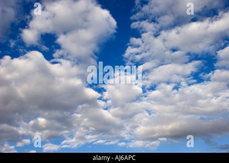 Clouds against a blue sky in the Eastern Sierra Nevada California USA - Stock Image