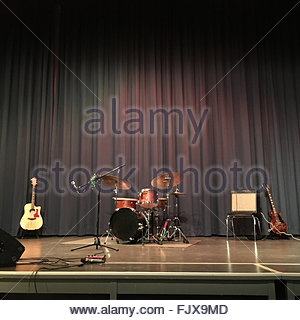 Musical Instruments On Stage - Stock Image