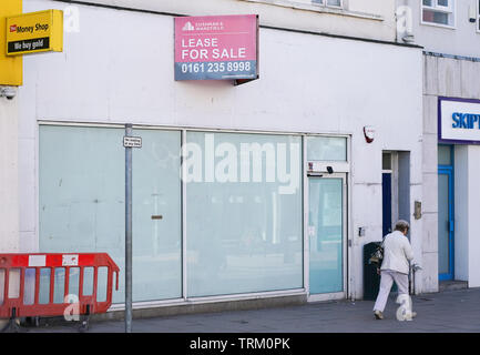 Empty shop in Southport Town Centre - Stock Image