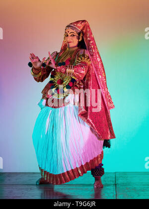 Kathakali Dancer, South Indian Classical Dance - Stock Image