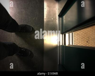 Lift opening - Stock Image