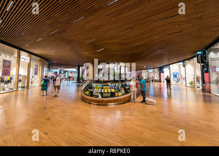 Horizontal view inside the CityLife shopping centre in Milan, Italy. - Stock Image