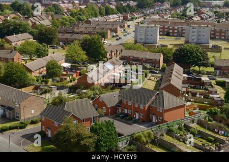 Social housing on the outskirts of Southampton UK - Stock Image