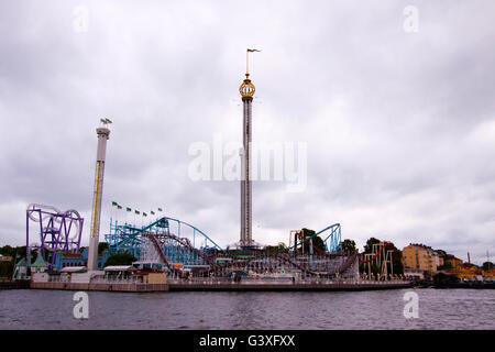 Grona Lund Amusement Park Stockholm - Stock Image