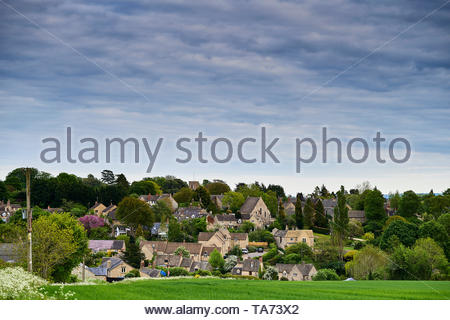 Stonesfield a village in the Cotswolds in Oxfordshire with Britain approaching Brexit. - Stock Image