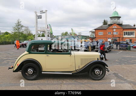 Morris 15/6 Coupe Tourer (1934), British Marques Day, 28 April 2019, Brooklands Museum, Weybridge, Surrey, England, Great Britain, UK, Europe - Stock Image