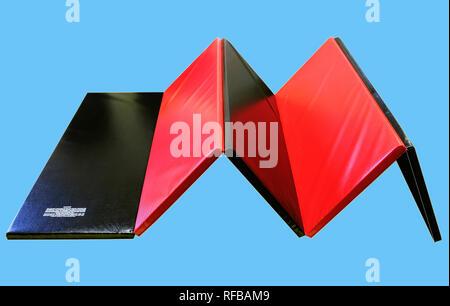 Folding Exercise Mat - Stock Image