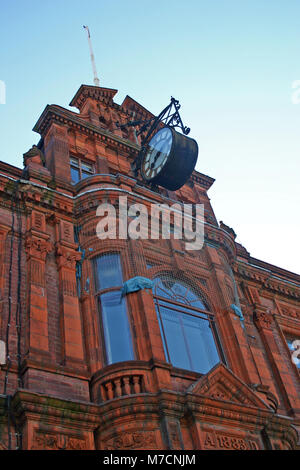 Red brick and red terracotta building, Kenrick and Jefferson building, newspaper offices, High Street, West Bromwich - Stock Image