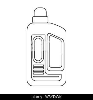 Disinfectant soap bottles with dispenser isoalted symbol in black and white - Stock Image