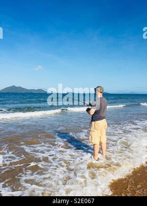 Sea fishing - Stock Image