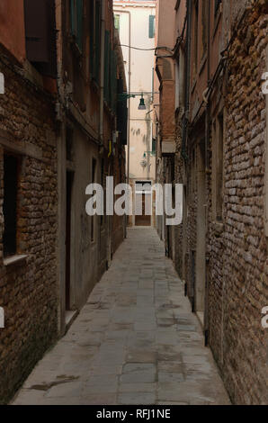 narrow street in Venice - Stock Image
