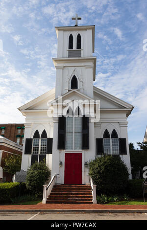 Greeneville, TN, USA-10-2-18: St. James Episcopal Church, on Church St., opened in 1850. - Stock Image