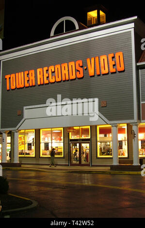 Tower Records in Annapolis, Md - Stock Image