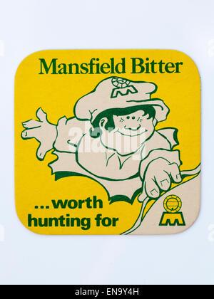 Vintage British Beer Mat advertising Mansfield Beer - Stock Image