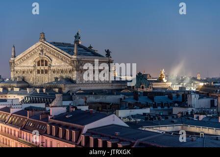 Roof of the Paris Opera Garnier building - Stock Image