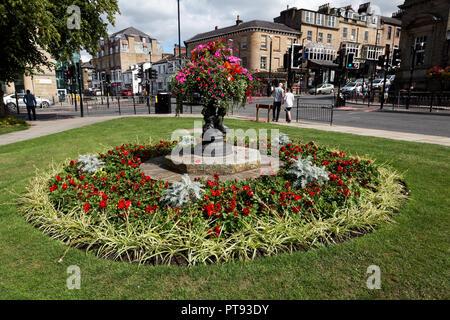 Floral display at Crescent Gardens, Harrogate, Yorks, England UK - Stock Image