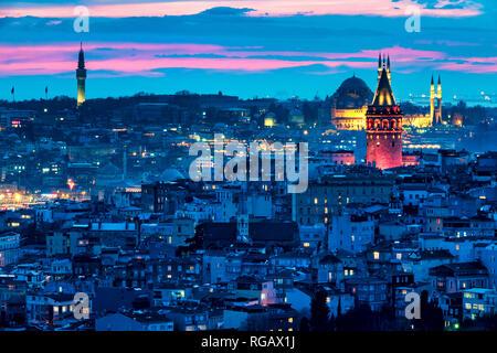 View of the Karakoy quarter of Istanbul, Turkey - Stock Image