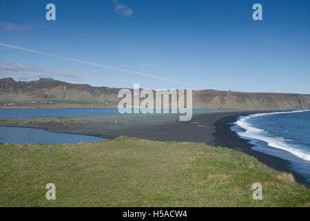 View from nature reserve, Dyrholaey,, South iceland - Stock Image