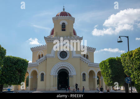 The Central Chapel in El Cementario de Cristobal Colon (Colon Cemetary) was founded in 1876 in Vedado, Havana, Cuba to replace Espada Cemetary. Named  - Stock Image