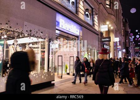 Bershka store on Oxford Street, London, England, UK - Stock Image
