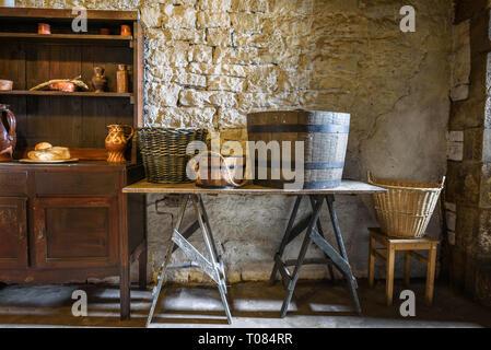 A typical period European kitchen/utility room. - Stock Image