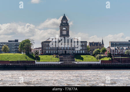 Wallasey Town Hall. Seacombe. - Stock Image