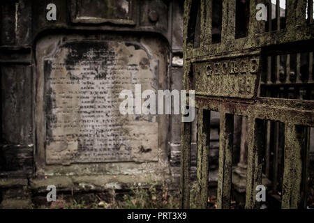 old burial plot Glasgow, Cathedral, Scotland - Stock Image