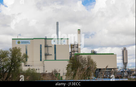 Brunsbuettel, GERMANY - April 16, 2017:Bio Energy Brunsbuettel - Biomass power plant - Stock Image