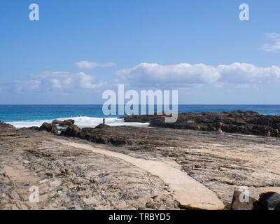 Snapper Rocks At Tweed Heads On The Gold Coast - Stock Image