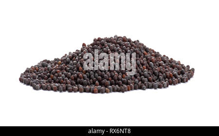 Pile Of Raw Mustard Seeds - Stock Image