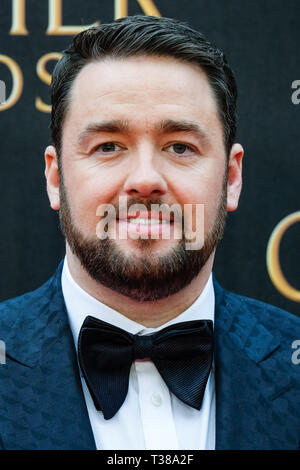 London, UK. 7th Apr 2019. Jason Manford poses on the red carpet at the Olivier Awards on Sunday 7 April 2019 at Royal Albert Hall, London. Picture by Credit: Julie Edwards/Alamy Live News - Stock Image