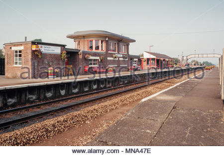 Templecombe railway station, Somerset, UK a Network South East railway station of British Rail – 1991 - Stock Image