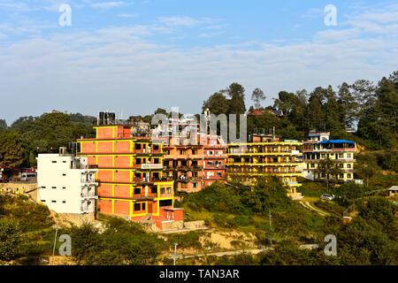 Hotels Marigold and Valley View in Nagarkot, Kathmandu Valley, Kathmandu, Nepal - Stock Image