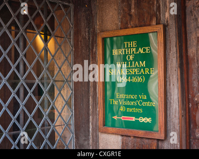 The Tudor building that was the birthplace of William Shakespeare in Stratford upon Avon - Stock Image