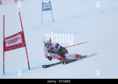 Zubcic Filip Croatia competing in Val d'Isère men's Giant slalom Audi Fis Alpine Ski World Cup 2019 - Stock Image
