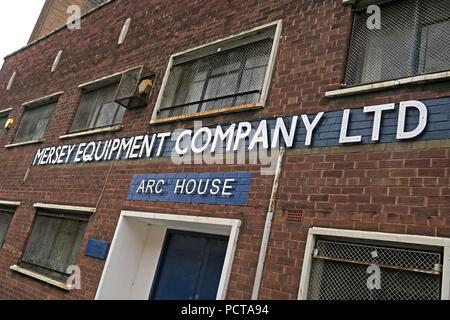 Arc House, Mersey Equipment Company Ltd, Arc House, Birkenhead, Wirral, Merseyside, North West England, UK - Stock Image