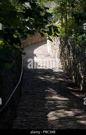 Cobbled snicket, Sowerby Bridge, West Yorkshire - Stock Image