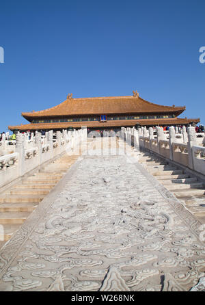 BEIJING, CHINA - OCTOBER 14, 2017: The Forbidden City (Palace museum), the Chinese imperial palace from the Ming dynasty to the end of the Qing dynast - Stock Image
