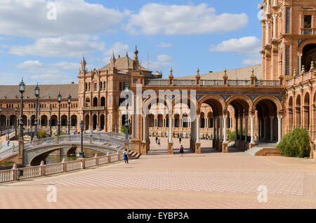 Plaza de Espana, Seville, Andalucia,Spain. - Stock Image