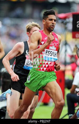 Younéss ESSALHI (Morocco) competing in the Men's 5000m Final at the 2018, IAAF Diamond League, Anniversary Games, Queen Elizabeth Olympic Park, Stratford, London, UK. - Stock Image