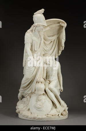 Allegorical Portrait of the van Risamburgh Family by Joseph Chinard, French, 1790; France, Europe; Marble; Object: - Stock Image